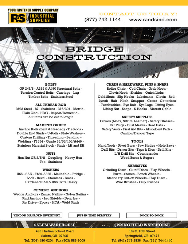 Bridge construction line card